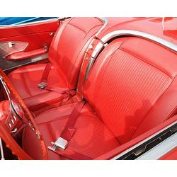 Corvette Leather Seat Covers. Red: 1959