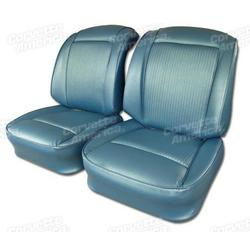 Corvette Vinyl Seat Covers. Jewel Blue: 1961