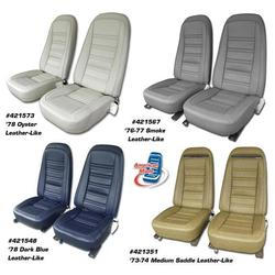 Corvette Leather Like Seat Covers. Claret 2--Bolster: 1980