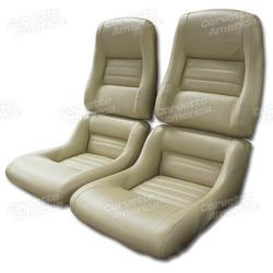 Corvette Mounted Leather Seat Covers. Doeskin 100%-Leather 2--Bolster: 1979-1980