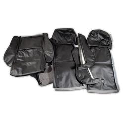 Corvette Driver Leather Seat Covers. Black Sport: 1984-1988