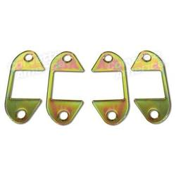Corvette Door Hinge Cover Set. 4 Piece: 1956-1962