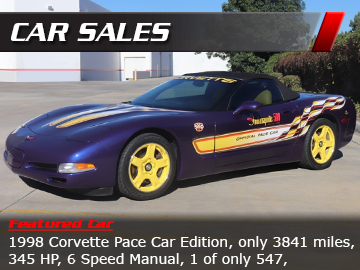 Corvette Car Sales