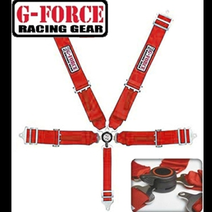 Corvette Shoulder Harness Cam Lock G-Force Racing - 5 Point : Red
