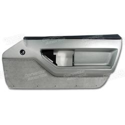 Corvette Door Panel. Gray Deluxe Convertible RH: 1986-1987