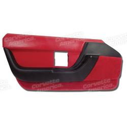 Corvette Door Panel. Red LH: 1990-1992