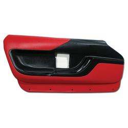 Corvette Door Panel - Red Coupe LH: 1994-1996