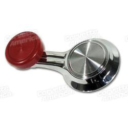 Corvette Vent Crank Handle - Red: 1967