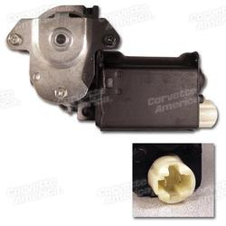 Corvette Power Window Motor - Left Hand - Flat Style 76L: 1976-1982