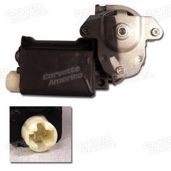 Corvette Power Window Motor - Right Hand - Flat Style 76L: 1976-1982