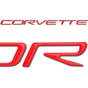 Corvette Front Domed Decal Letters : 1997-2004 C5 Logo