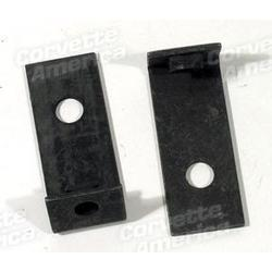 Corvette Headlight/Nose Support Rod Brackets.: 1966-1967