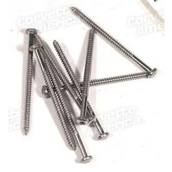 Corvette Taillight Lens Screws. 8 Piece Set: 1980-1982