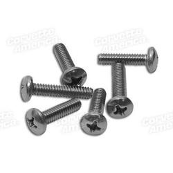 Corvette Parking Light Lens Screws. 6 Piece Set: 1970-1972