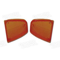 Corvette Parking Light Lenses. Amber: 1972