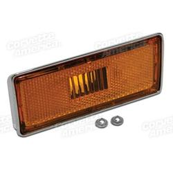 Corvette Side Marker Light Assembly. Left Front: 1973-1974