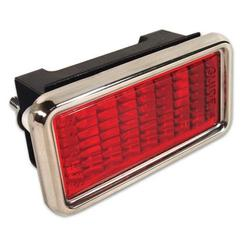 Corvette Side Marker Light Assembly. Rear Red: 1968-1969