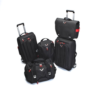Corvette Stingray Luggage with C7 Cross Flags Logo - 5-Piece Set : 2014+ C7