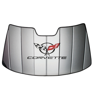 Corvette Accordion Style Sunshade - Insulated: 1997 - 2004 C5
