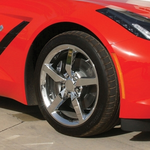 2014, 2015, 2016, 2017, Corvette Stingray Chrome Wheel Exchange - Standard - 18x8.5/19x10 : 2014 C7