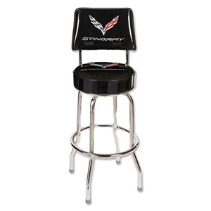 2014+ C7 Corvette Stingray Counter Stool w/Back Rest
