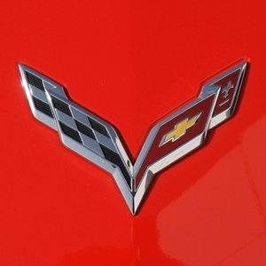 2014, 2015, 2016, 2017,  C7 Corvette Stingray GM Crossed Flags Emblem : Chrome