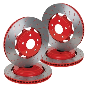 2014, 2015, 2016, 2017 C7 Corvette Stingray Z51 Powder Coated Rotors : Red