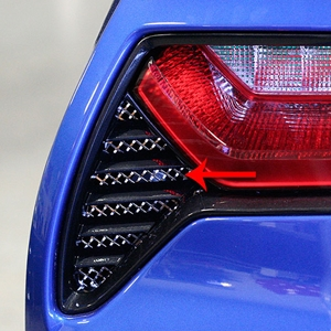 2014, 2015, 2016, 2017 C7 Corvette Stingray, Z51, Z06, Grand Sport Laser Mesh Taillight Grilles