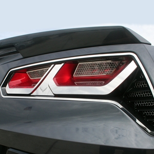 C7 Corvette Stingray Taillight Trim Kit w/Emblem Polished : 2014