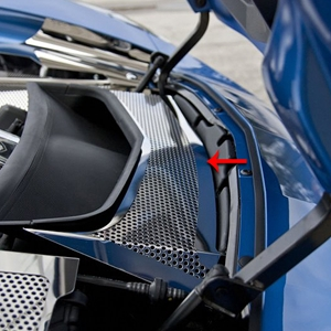 2014, 2015, 2016, 2017 C7 Corvette Stingray, Z51, Z06, Grand Sport Radiator Duct Cover - Solid or Perforated & Polished