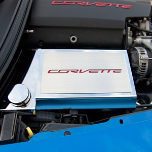 "2014,2015,2016,2017, C7 Corvette - Fuse Box Cover with ""CORVETTE"" Script Carbon Fiber Inlay : Stingray, Z51, Z06"