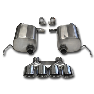 "C7 Corvette Stingray Exhaust - CORSA SPORT 14764 Valve-Back Performance Exhaust System : Quad 4.50"" Round Tips"