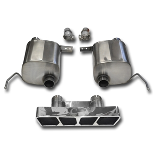 C7 Corvette Stingray Exhaust - CORSA Xtreme Valve-Back Performance Exhaust System : Polished Poly Tip