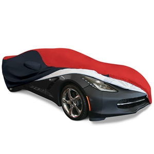2014,2015,2016,2017, C7 Corvette Stingray, Z51, Z06, Grand Sport Ultraguard Plus Car Cover - Indoor/Outdoor Protection : Red/Black