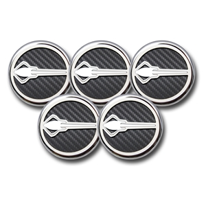 2014,2015,2016,2017, C7 Corvette Cap Cover 5Pc. Set Auto - Stingray Emblem GM Licensed Chrome/Brushed/Carbon Fiber Inlay Colors