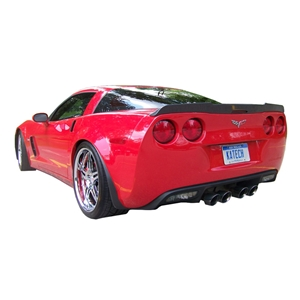 Corvette Rear Spoiler - Carbon Fiber Katech : 2005-2013 C6, Z06, ZR1, Grand Sport