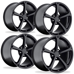 Corvette Wheel - 2010 Grand Sport Style Reproduction (Set) - Gloss Black : 1997-2013 C5,C6,Z06,Grand Sport