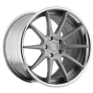Corvette Custom Wheels WCC 633 3 Pc. Forged Series : Silver Brushed 19x10/20x13 2006-2011 Z06,ZR1,Grand Sport