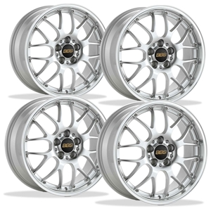 Corvette Custom Wheels - BBS Forged RS-GT (Set) : Bright Silver with Machined Lip
