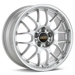 Corvette Custom Wheels - BBS Forged RS-GT : Bright Silver with Machined Lip
