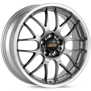 Corvette Custom Wheels - BBS Forged RS-GT : Diamond Black with Machined Lip