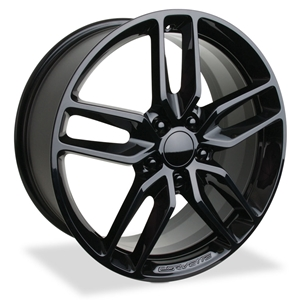 Corvette Wheel - C7 Corvette Stingray Z51 Split Spoke GM : Gloss Black 2014 2015