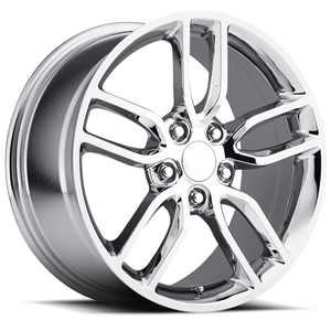 Corvette Wheel - C7 Corvette Stingray Z51 Split Spoke GM : Chrome 2014 2015