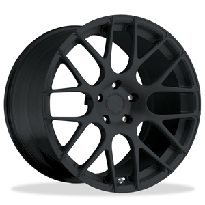 Corvette Custom Wheels - WCC 737 Monobloc Forged Series : Satin Black 19x10/20x13 2006-2013 Z06,ZR1,Grand Sport