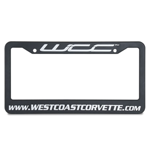Corvette License Plate Frame with WCC Logo