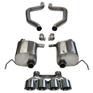 "C7 Corvette Z06 Exhaust - CORSA SPORT 14768 Axle-Back Performance Exhaust System : Quad 4.50"" Round Tips 2015"