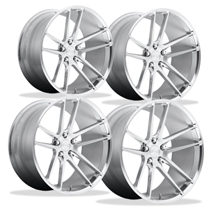 Corvette Custom Wheels - Niche Enyo T76 (Set) : Hi-Luster Polished w/Brushed Face