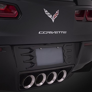 C7 Corvette Stingray Rear License Plate Frame : Painted 2014 2015