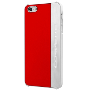 C7 Corvette Stingray Script - Hardcase iPhone 5/5S Case : Silver Brushed