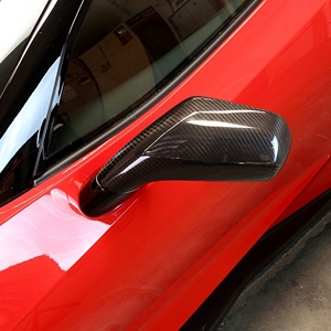 2014,2015,2016,2017, Corvette Replacement Side Mirrors - APR Performance - Carbon Fiber : Stingray, Z06